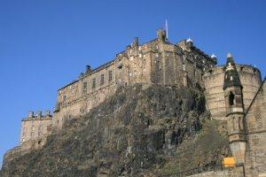 Edinburgh Castle perched on Castle Rock